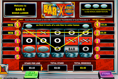 Bar-X Bonus Ladder