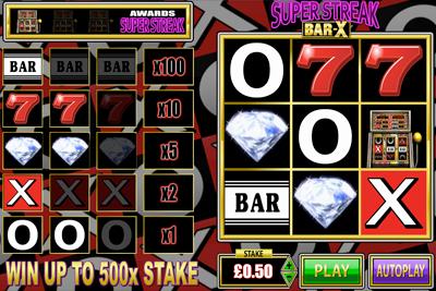 Bar-X Super Streak Scratchard